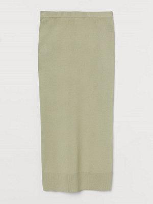 Kjolar - H&M Finstickad kjol grön