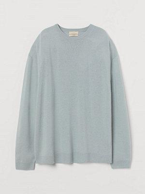 Tröjor - H&M Oversized tröja i kashmir blå