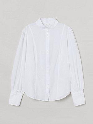 H&M Blus i bäckebölja vit