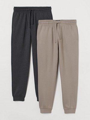 Byxor - H&M 2-pack sweatpants brun