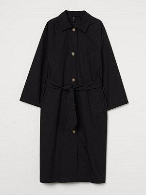 H&M Oversized kappa svart