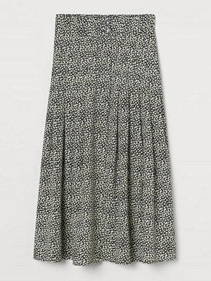 H&M Vadlång kjol svart
