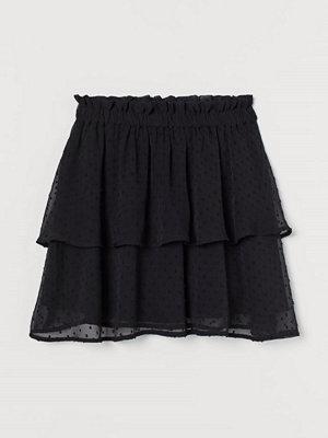 H&M Chiffongkjol svart