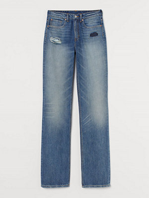 H&M Straight Regular Jeans blå