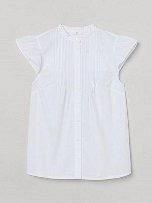 H&M Blus med stråveck vit