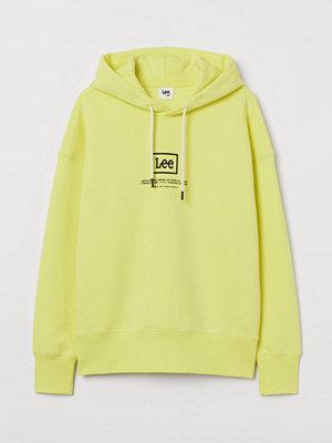 H&M Huvtröja i bomull gul