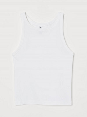 H&M Linne i bomull vit