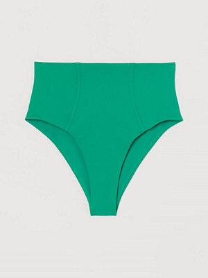 H&M Bikinibriefs med hög midja grön