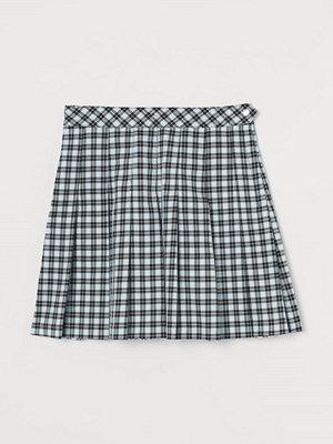 H&M Veckad kjol turkos