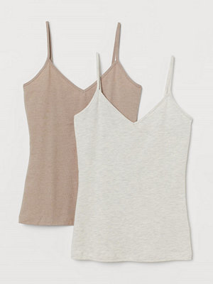 H&M 2-pack linne i bomull beige