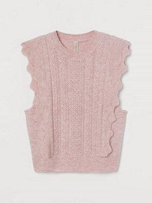 H&M Slipover med volang rosa