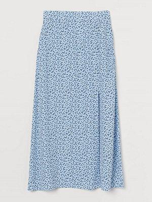 H&M Kjol i viskos blå