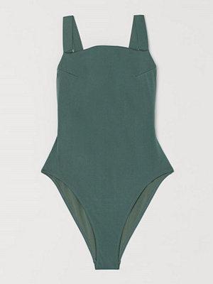 H&M Shape-baddräkt High leg grön