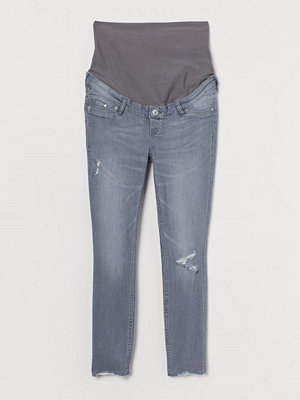 Jeans - H&M MAMA Skinny Ankle Jeans grå