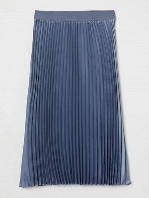 H&M Plisserad kjol blå
