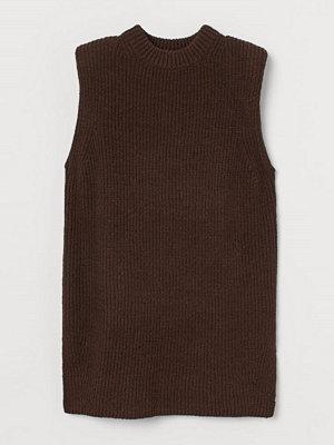 Tröjor - H&M Ribbstickad slipover brun