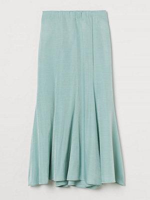 H&M Lång kjol turkos