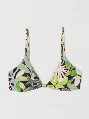 H&M Vadderad bikini-bh grön