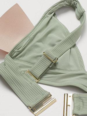 H&M Vadderad trekantsbikini-bh grön