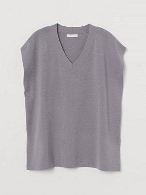 Tröjor - H&M V-ringad slipover grå