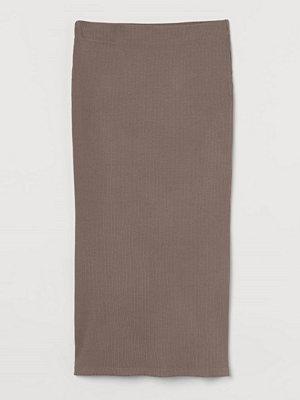Kjolar - H&M Ribbad kjol beige