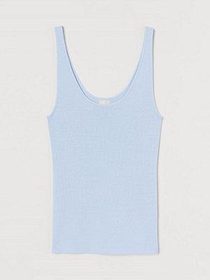 H&M Stickat linne blå