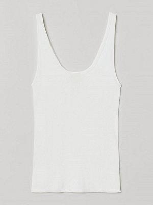 H&M Stickat linne vit