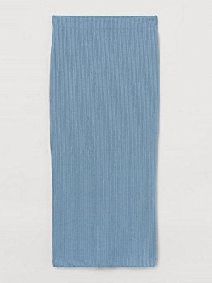 Kjolar - H&M Ribbad kjol blå