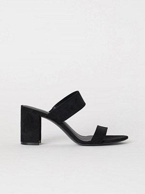 H&M Sandaletter med blockklack svart