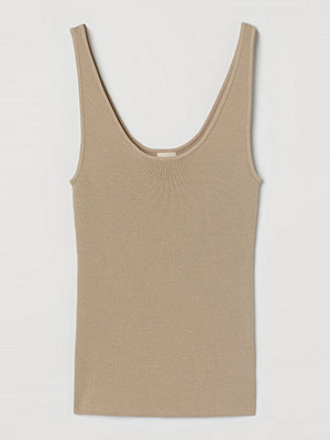 H&M Stickat linne beige
