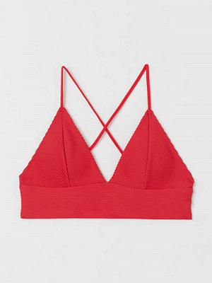 H&M Vadderad bikinitopp röd