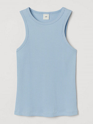 H&M Ribbad tanktop blå
