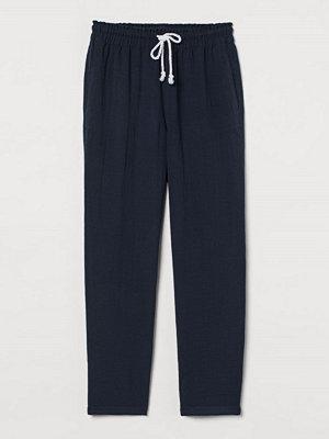 H&M svarta byxor Pull on-byxa i viskosmix blå