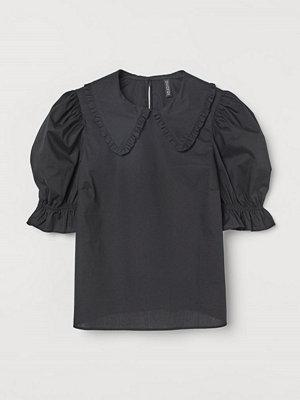 Blusar - H&M Blus med krage svart
