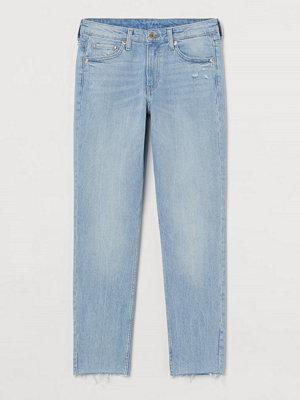 H&M Girlfriend Regular Ankle Jeans blå