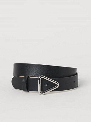 H&M Långt midjeskärp svart