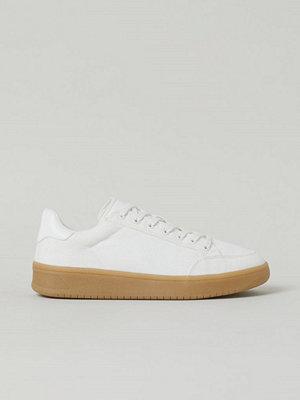 H&M Sneakers i bomullscanvas vit