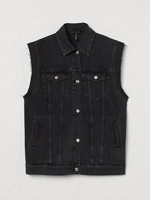 H&M Denimväst svart