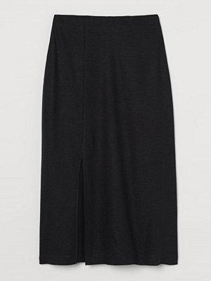 H&M Kjol i linmix svart
