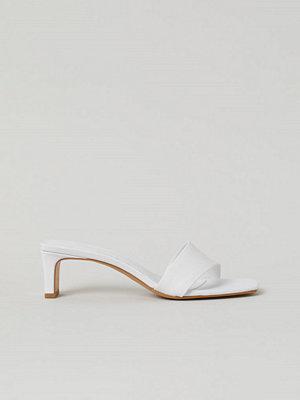 H&M Slip in-sandaletter vit