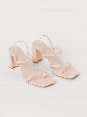H&M Sandaletter med blockklack rosa