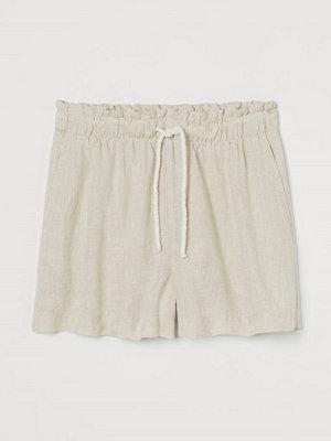 Shorts & kortbyxor - H&M Linneshorts beige