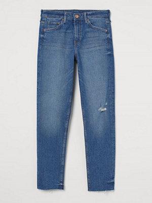 H&M Girlfriend Regular Jeans blå