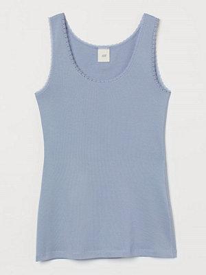 H&M Linne med spets blå