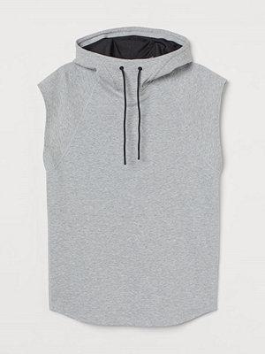 H&M Sporttröja Relaxed Fit grå