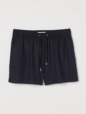 H&M Shorts i linmix blå