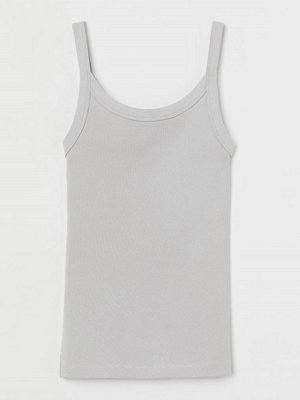 H&M Ribbat linne grå