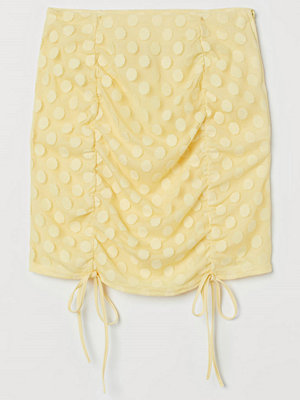 H&M Draperad minikjol gul