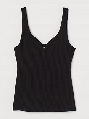 H&M Ribbat linne svart