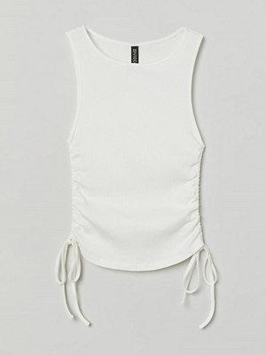 H&M Tanktop med dragsko vit